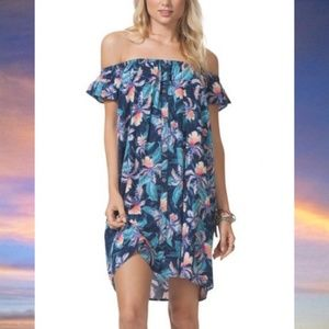 Rip Curl Tropic Tribe Off The Shoulder Cover Up